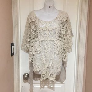 Free people crochet cover up